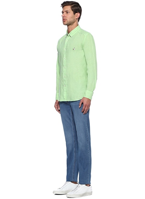Beymen Club Slim Fit Uzun Kollu Gömlek Yeşil